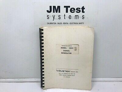 Wavetek Signal Generator 3001 Instruction Manual Br