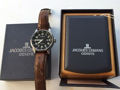VINTAGE. Jacques Lemans Geneve SWISS MADE Mens Automatic Watch Ostrich Strap