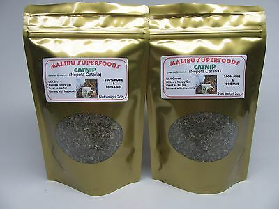 CATNIP 4oz Fresh Dried Coarse ground (Nepeta Cataria) Organic USA grown
