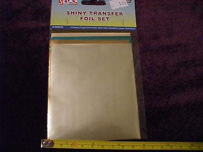 Stix 2 :- 10 Sheets of Shiny Transfer Foils