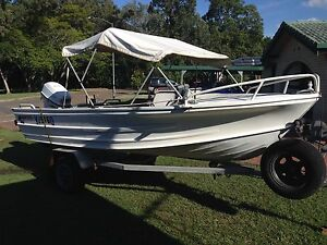15ft tinny with 40hp johnson and trailer Aspley Brisbane North East Preview