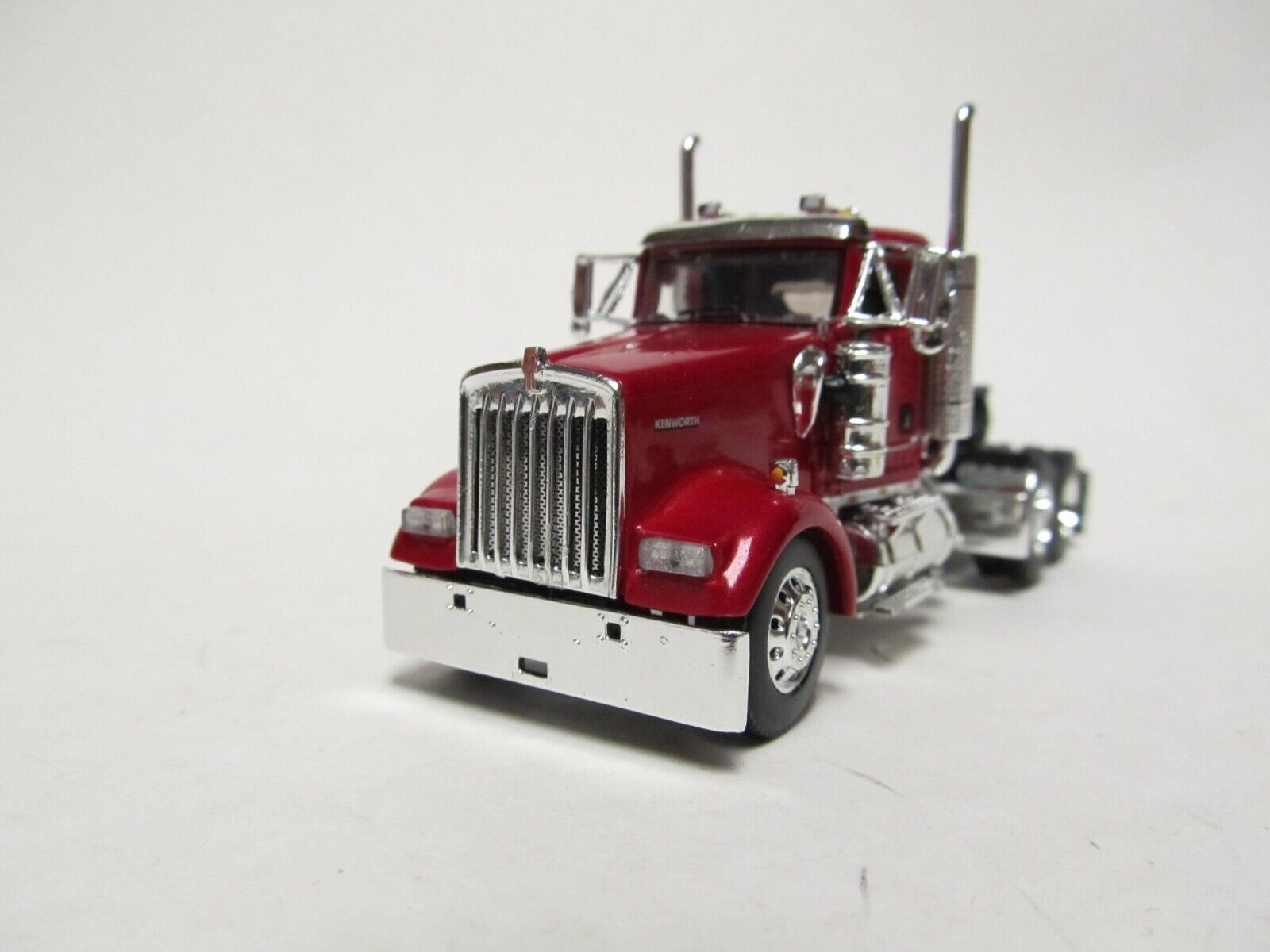DCP / FIRST GEAR 1/64 SCALE W-900 KENWORTH DAY CAB, MAROON, YELLOW ENGINE