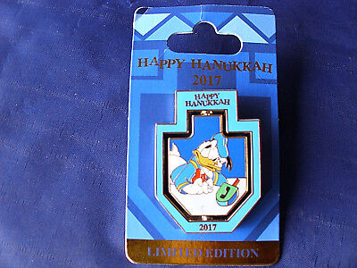 Disney * 2017 HANUKKAH - DONALD / NEPHEWS - SPINNER * New on Card LE Holiday Pin