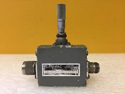 Merrimac Au-25a5ncm 1 To 8 Ghz Type N M-f Micrometer Type Variable Attenuator