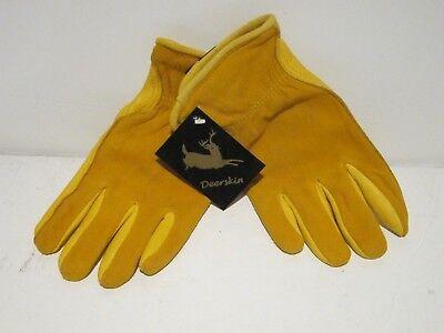 Luxury Grain Deerskin Leather Fleece Lined Insulated Winter Gloves Small New Fsp