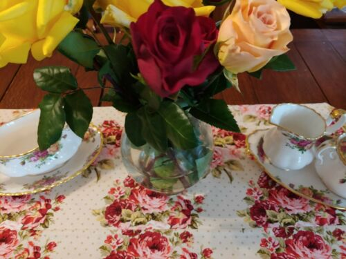 """42"""" Table Runner to compliment """"Old Country Roses"""""""