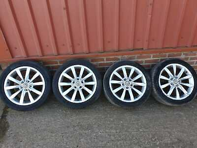 "VW GOLF MK6 MK7 SHARAN TOURAN CADDY 17 "" INCH ALLOY WHEELS AND TYRES 225/45/R17"