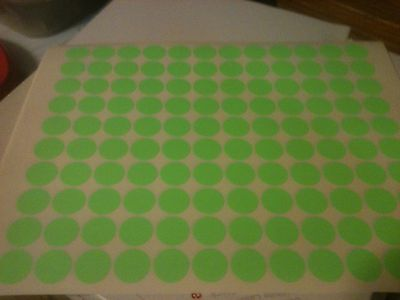 108 Fluorescent Neon Green Blank Rummage Garage Yard Sale Stickers Labels Tags