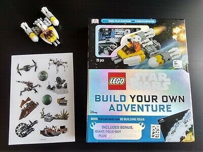 LEGO STAR WARS Y-Wing Starfighter &Rebel Pilot Minifigure 50 Ideas Book 73 Piece
