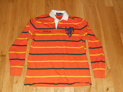 RALPH LAUREN POLO LONG SLEEVE RUGBY STYLE MENS L CUSTOM FIT ENGLAND GRIFFIN LION Griffin Rugby