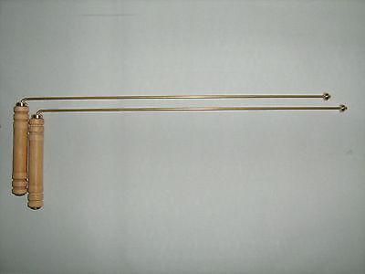 Messing - Wünschelrute, Winkelrute massiv Handarbeit aus Deutschland 1 Paar