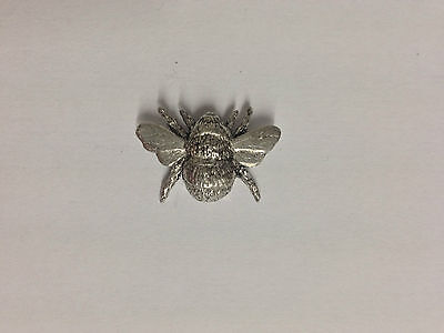 Code Q4 Bee Made from Solid Fine English Pewter Pin Lapel badge