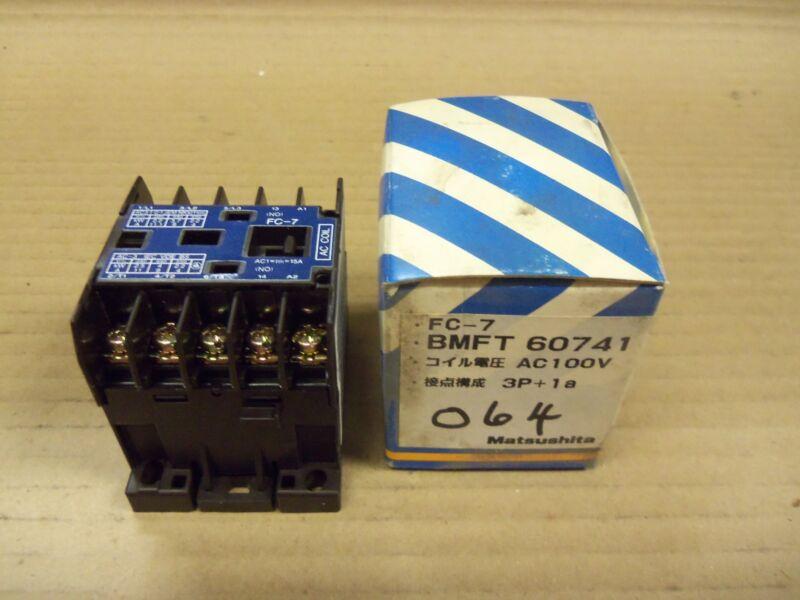 New Matsushita Electric FC-7 BMFT-60741 100V ac 3 Pole 1 Amp Contactor