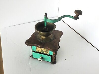Vintage Coffee Grinder Hand Crank Jointed Farm House Dcor Needs Repair