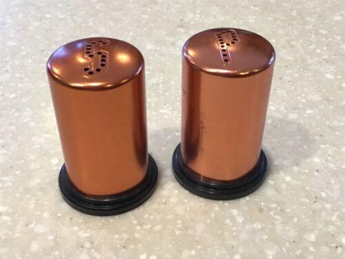 Vintage USA Aluminum Copper Color Salt and Pepper Shakers