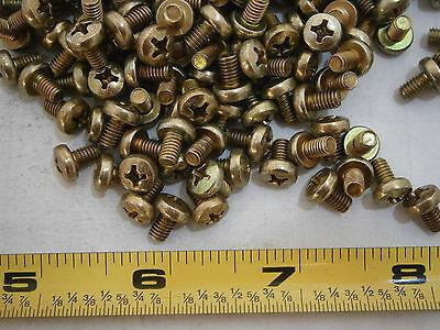 Machine Screws M4 X 6 Phillips Pan Head Steel Yellow Zinc Lot Of 75 3289