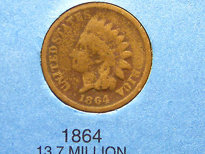 1864 INDIAN HEAD CENTCN                                                 13TH