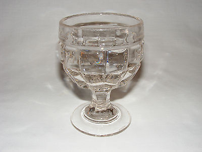 ANTIQUE VICTORIAN EARLY AMERICAN PRESSED GLASS  BUTTERMILK  GOBLET Eapg 1880