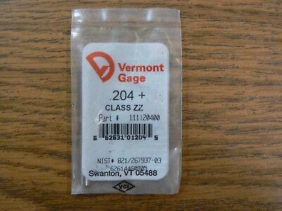 Vermont Gage Pin .204 Class Zz Part 111120400
