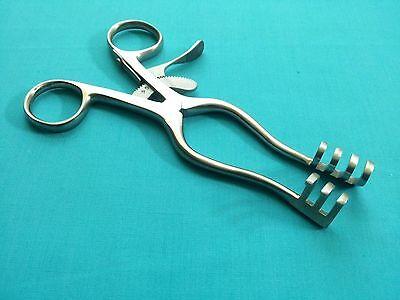 3 Weitlaner Retractor 5.5 Blunt 3x4 Prong Surgical Veterinary Instruments