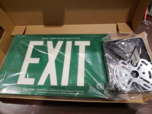 Self Glowing Photoluminescent Exit Sign
