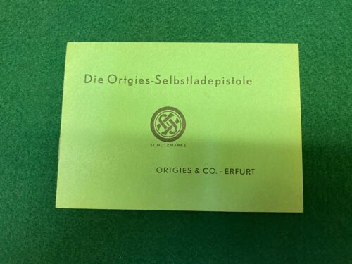 German Ortgies Semi-Auto Pistol Deutsches Waffen-Journal Reprint