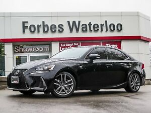 2017 Lexus IS 1 OWNER! 350 F-SPORT 2/RED LEATHER/ROOF/NAV