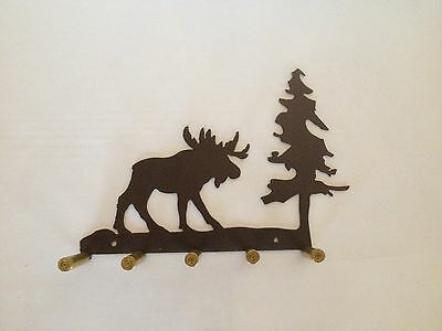 Moose Key Holder With Bullet Casings, Made In USA, Real Steel!