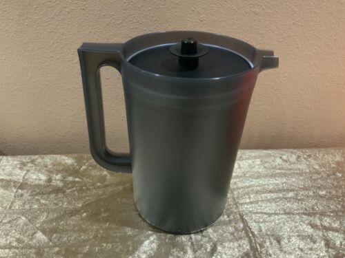 New Tupperware Beautiful Small Black Pitcher 2QT