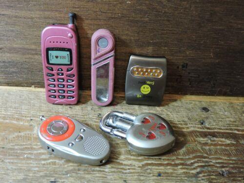 LOT 5 Novelty Refillable Butane Cigarette Cigar Phones Lock Reggae LIGHTERS
