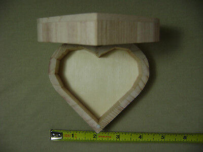 Unfinished Wooden Heart-Shaped Jewelry Box for Arts and Crafts Projects - Wooden Boxes For Crafts