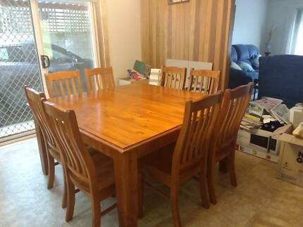 Dining Suite 7 Piece Ash Timber Table Dining Tables Gumtree