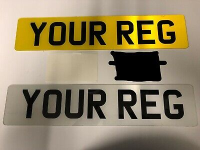 Pair Of Road Legal/show 2D number plates printed top quality free post