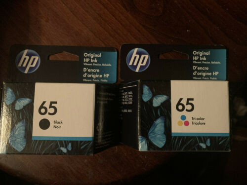 New Genuine HP 65 Ink Cartridge Combo HP 2622 3752 3755 3722 Black Tri Sealed