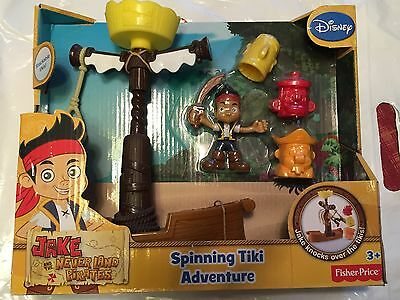 New Fisher-Price Jake and The Never Land Pirates Spinning Tiki Adventure (Land Pirates)