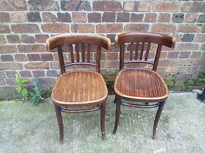 Pair Of Antique Vintage Bentwood Chairs