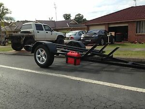 HEAVY DUTY 3 X MOTOR BIKE TRAILER Minmi Newcastle Area Preview