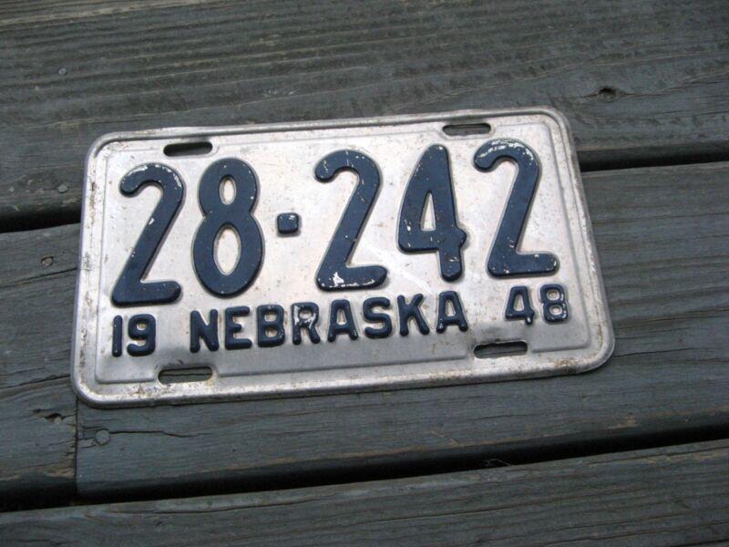 1948 48 NEBRASKA NE LICENSE PLATE NICE TAG HI QUALITY