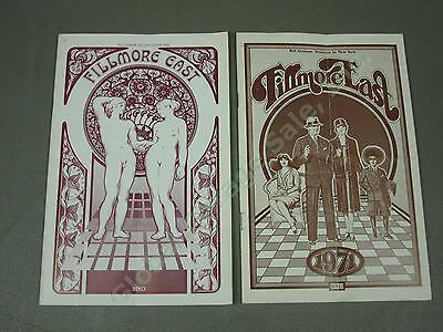 2 Original Frank Zappa 1970 1971 Fillmore East Programs Byrds Black Sabbath ++NR