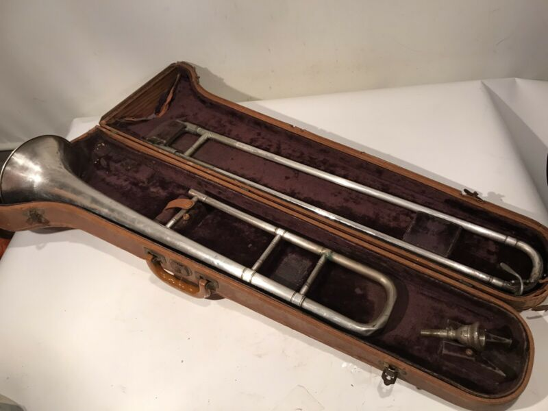 Silverplate JW York and Sons, Grand Rapids Mich Professional Tenor Trombone