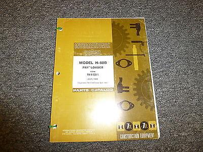 International Hough H50b Pay Wheel Front End Loader Parts Catalog Manual Book