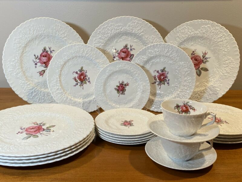 23 PC Vintage Spode BRIDAL ROSE China Dishes