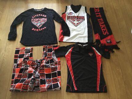 Essendon Junior Mosquito Bulk clothing. Gurnsey PJ's, scarf & Polo  Nollamara Stirling Area Preview
