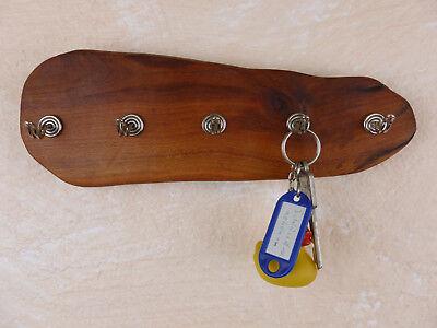 Schlüsselbrett Schmuckhalter Haken alt Pflaume Holz natur Einzelstück Handarbei