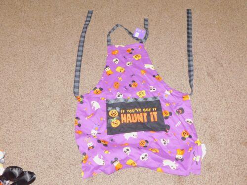 Disney Parks Halloween Haunt It Pumpkins Adult Kitchen Apron WDW 2021 - NEW