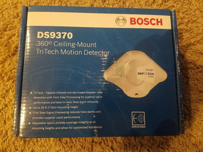Bosch DS9370 360 Ceiling Mount TriTech Motion Detector, NEW