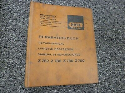 Hatz Z782 Z788 Z789 & Z790 Diesel Engine Shop Service Repair Manual Book