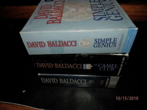 lot of 3 DAVID BALDACCI AUDIO BOOKS UNABRIDGED has 37 CDS  43.5 HOURS of fun F/S