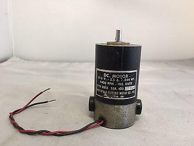 Northfield Electric Motor Co. Dc. Motor 27.5v-2.5a-.044 Hp Pn 2613 Ser. No 213