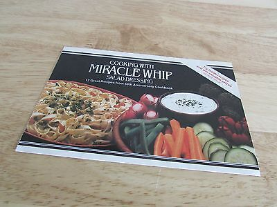 Cooking with Miracle Whip Salad Dressing Kraft 1982 Booklet 12 Great Recipes  Miracle Whip Recipe